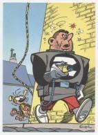 TRESORS DU JOURNAL DE SPIROU  CARTE ILLUSTREE PAR FRANQUIN 1985   N° 58  CPSM 10 X 15 NEUVE - Stripverhalen