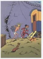 TRESORS DU JOURNAL DE SPIROU  CARTE ILLUSTREE PAR FRANQUIN 1985   N° 25  Cpsm  10 X 15  Neuve - Stripverhalen