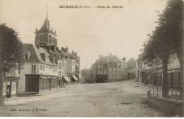 CPA AUMALE (Seine Maritime) - Place Du Marché - Aumale