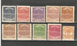 AGAR-Privatpost, 9 Werte (Fournier-Drucke) Und  DAVIS-Privatpost 1 Wert. (*)/* - Samoa (Staat)