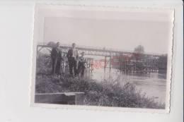 Superbe ! Pont De Loyettes Ain Pont Provisoire ? Réparation ? Construction ?  Animation Beau Format 16 Octobre 1938 - Luoghi