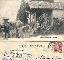 Grandvillard -  Chapelle De La Frasse, Armailli Transportant Le Fromage - FR Fribourg