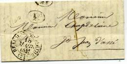 Cursive 71  Ballon Indice 10 Cad Type 13  Beaumont S/ Sarthe 1841 Taxe 1 Décime Rural Pour St Jean D'Assé - 1801-1848: Voorlopers XIX