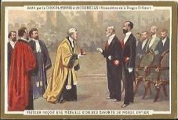 Chromo CHOCOLATERIE D´AIGUEBELLE - Pasteur Reçoit Une Médaille D'or Des Savants Du Monde Entier. - Aiguebelle