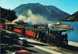 """Der ACHENSEE, Die Perle Von Tirol - Achenseezahnradbahn Und Dampfer """"Stadt Innsbruck"""" Am Landungssteg Seespize - Non Classés"""