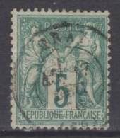FRANCE N° 64 Obl. Centrage - 1876-1878 Sage (Type I)