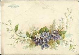 Chromo CHOCOLATERIE D´AIGUEBELLE - Violettes. - Aiguebelle