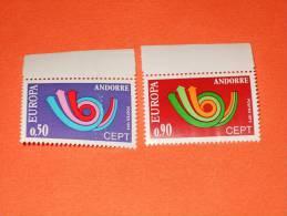 ANDORRE FRANCAIS 1973-N°226/227 Europa, 2 Valeurs **.  Superbe - Neufs
