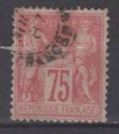 FRANCE N° 81 Obl. Infime Défaut - 1876-1898 Sage (Type II)