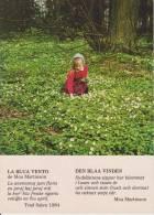 (AKE 97) Esperanto Card From Sweden With Poem By Moa Martinson / Poemo - Esperanto
