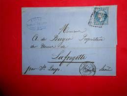 Lot.f 10;LAC De STARSBOURG Pour La Forgette;cachet . Verso - 1853-1860 Napoléon III.