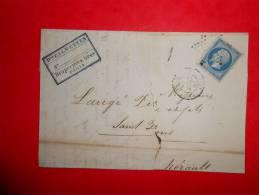 Lot.f 15;LAC De  PARIS;cachet  Au Verso;nuance - 1853-1860 Napoléon III