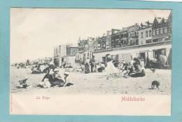 MIDDELKERKE  -  La  Plage  - St. & Co. à D - BELLE  CARTE PRECURSEUR ANIMEE - - Middelkerke