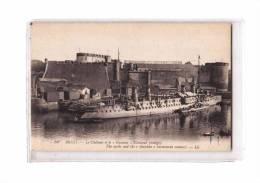 29 BREST Port, Marine Militaire, Croiseur Guichen, Chateau, Ed LL 54, 192? - Brest