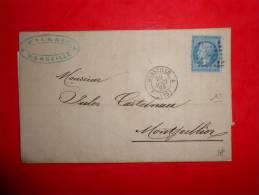Lot.f 35;LAC De Marseilles 4; Verso;nuance,variété A Etudier - 1862 Napoléon III