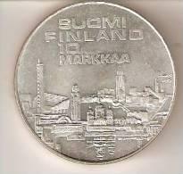 MONEDA DE PLATA DE FINLANDIA DE 10 MARKKAA DEL AÑO 1971 HELSINKI   (COIN) SILVER,ARGENT. - Finlandia