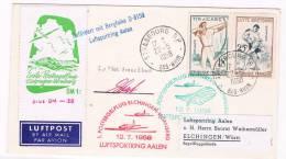 1958. Francia A Alemania. Sobre Con Sellos Tema Olimpico Y Matasellos Especiales Avión - Otros