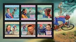 GUINEA 2012 - Sport Legends III: Cycling - YT 6646-51; CV = 23 €