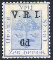 Orange Free State 1900. 6d Blue THICK V. SACC 75* - Stato Libero Dell'Orange (1868-1909)