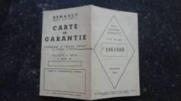 13A - Carte Garantie Automobile Renault - Unclassified