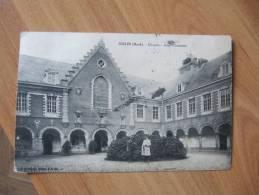 CPA C0   SECLIN HOSPICE COUR D HONNEUR ANIMEE - Seclin