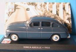 SIMCA ABEILLE BLUE 1955 IXO BLEU BLAU ALTAYA BLEUE 1/43 LEFT HAND DRIVE - Ixo