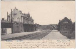 16974g GARE - Wasmes - 1908 - Courcelles