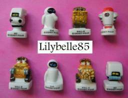 Serie Complete De 8 Fèves Porcelaine Disney ROBOT ♥ WALL E ♥ 2009 ( Feve ) - Disney