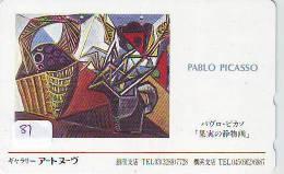 Télécarte (81) Du Japon Peinture Pablo Picasso Phonecard Painting Gemälde Schilderij Japan * - Pintura