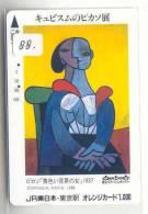 Télécarte (88)  Japon Peinture Pablo Picasso Phonecard Painting Gemälde Schilderij Japan * - Pintura