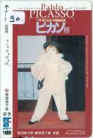 Télécarte (90) Du Japon Peinture Pablo Picasso Phonecard Painting Gemälde Schilderij Japan * - Pintura