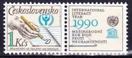 ** Tchécoslovaquie 1990 Mi 3029 Zf (Yv 2830) Avec Vignette, (MNH) - Nuovi
