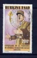 Thème Général De Gaulle - Burkina Faso - Yvert 829 - Oblitéré - De Gaulle (Generale)