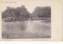 Afrique - Guinée - Traversée Gué Fleuve  Férédougouba - Guinée
