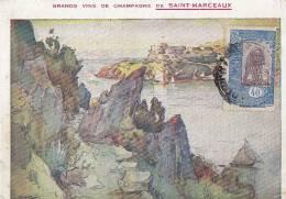 Afrique - Djibouti - Timbre Côte Française Des Somalis - Champagne Saint Marceau - Oblitération - Djibouti