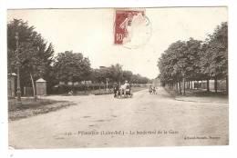 CPA :44 - Loire Atlantique : Le Boulevard De La Gare ( Attelage Vu De L'arrière ) , Enfants - Paimboeuf