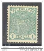 ESTGF36-3302TTSC.Spain.Es Pagne.ESCUDO DE ESPAÑA.TELEGRAFOS DE ESPAÑA .1901 (Ed 36*)  Charnela.LUJO. - Transporte