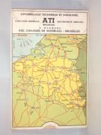 Publicité ATI. Carte à Système Mesurant Les Distances Entre Villes Belges. - Publicités