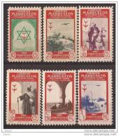 MA291-L4094TTA.Maroc. Marocco. PRO   TUBERCULOSOS .MARRUECOS     ESPAÑOL 1948 (Ed 291/6**) Sin Charnela .MUY BONITOS - Aviones