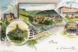 NIEDERBRONN (67) Carte Illustrée Gruss - Niederbronn Les Bains