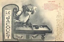 PK Les Jeux - Le Jacquet - 1905 - Cartes Postales