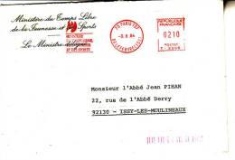 LSI 1008B Havas 210 Ministre Du Temps Libre Paris    Issy Les Moulineaux - 1961-....