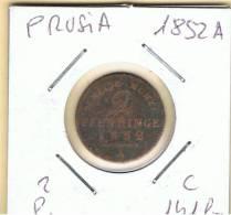 ALEMANIA - GERMANY - PRUSIA  2 Pfennig 1952A   KM141b - [ 1] …-1871 : Estados Alemanes