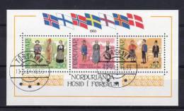 """FEROE 1983 N° YT BF 1 OBLITERE Cote 16.50 € : """" INAUGURATION DE LA MAISON NORDIQUE DE TORSHAVN """". Parfait état. - Faroe Islands"""