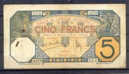 AOF  French West Africa 5 Fr 1932 - Billets