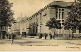 CPA 75 PARIS 15e LYCEE BUFFON ET RUE DE VAUGIRARD - Distrito: 15