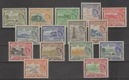 St. Kitts (1954-57) Yv. 134/48  /  Maps - Lighthouse - Beach - Island - Architecture - Vuurtorens