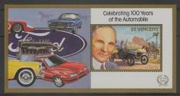 St. Vincent (1987) Yv. Bf. 39 - BIG ERROR !!!  /  Cars - Autos - Voitures - Automobiles - Ford - Auto's