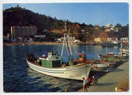"Espagne--BLANES--El Puerto (beau Bateau De Pêche ""MAR BLAVA"" Avec Animation),cpm N° 1507  éd CYP - Gerona"