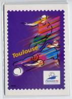 FRANCE 98-Coupe Monde De Football--Série 4 CP Pré-Timbrées (Lens,Montpellier,St Etienne,Toulouse) Sous Blister D'origine - Ganzsachen